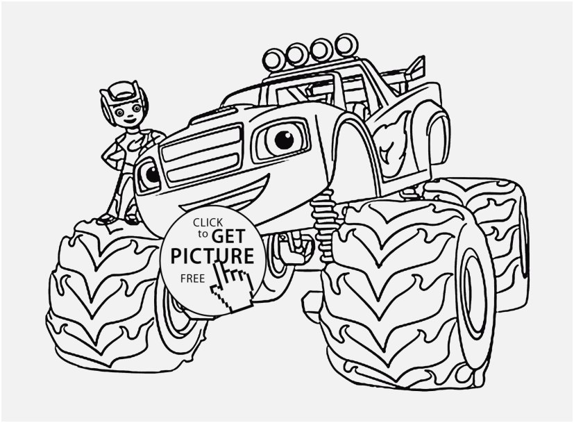827x609 Blaze Coloring Pages Picture Blaze Monster Truck With Boy Coloring