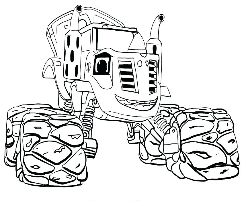 Blaze Monster Machine Coloring Pages At Getdrawings Com Free For