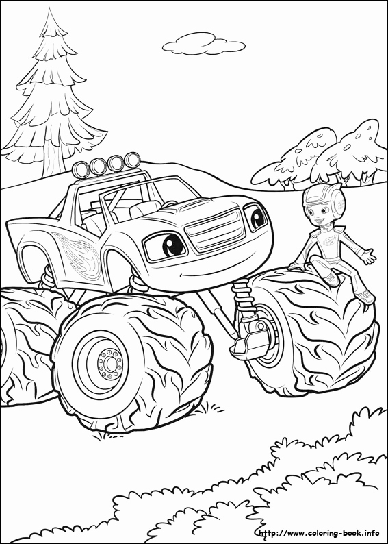 567x794 Blaze And Monster Machine Coloring Pages Collection