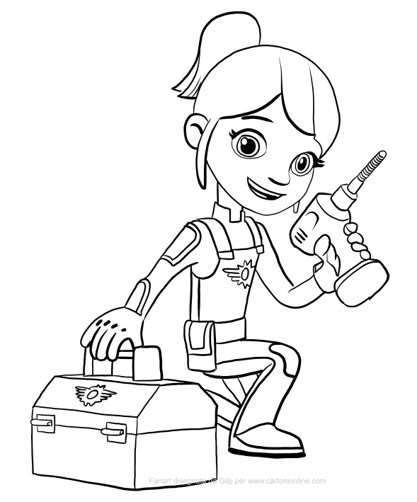 589x709 Gabby Of Blaze And The Monster Machines Coloring Pages