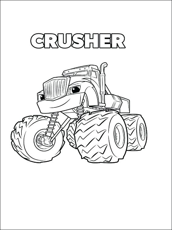 568x758 Idea Blaze The Monster Machine Coloring Pages Or Blaze