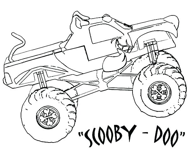 600x480 Monster Truck Printable Coloring Pages Monster Truck Printable