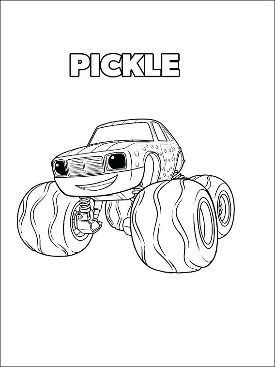 568x758 Pagina Para Colorear Pickle Blaze And The Monster Machines