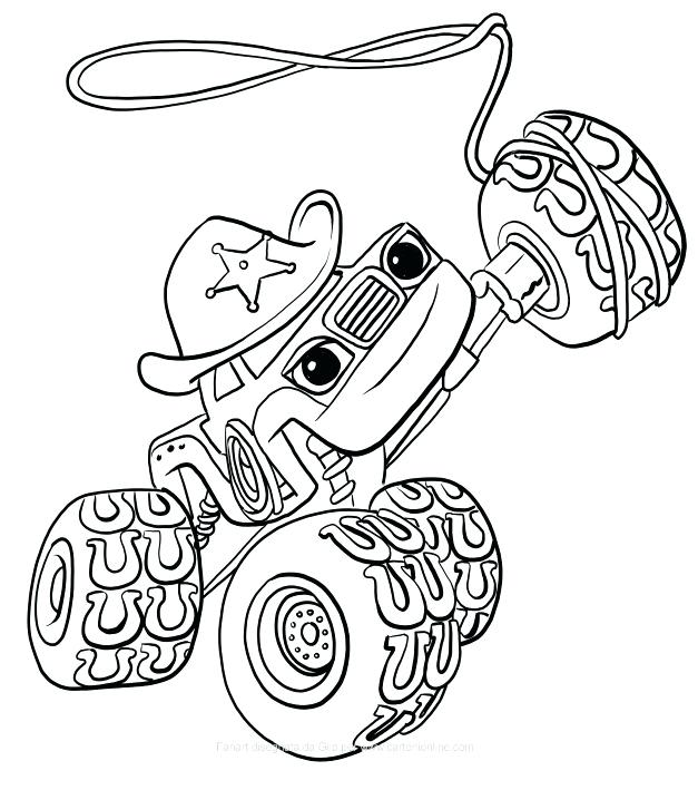 blaze monster machine coloring pages at
