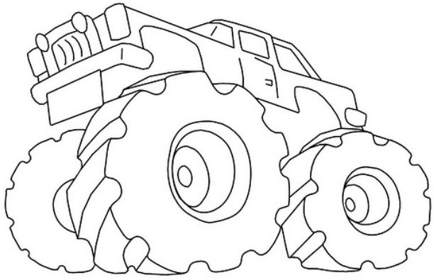 612x395 Nitro Circus Monster Truck Coloring Pages