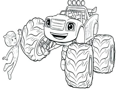 400x322 Blaze And The Monster Machine Coloring Pages Plus Blaze Monster