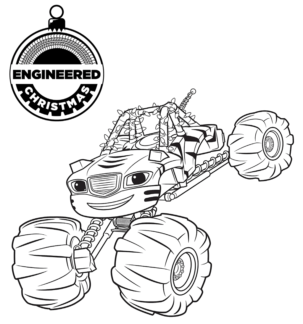 1024x1095 Blaze And The Monster Machines Coloring Pages