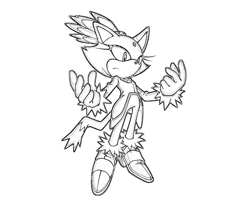 800x667 Blaze The Cat Coloring Pages Sonic Generations Blaze The Cat