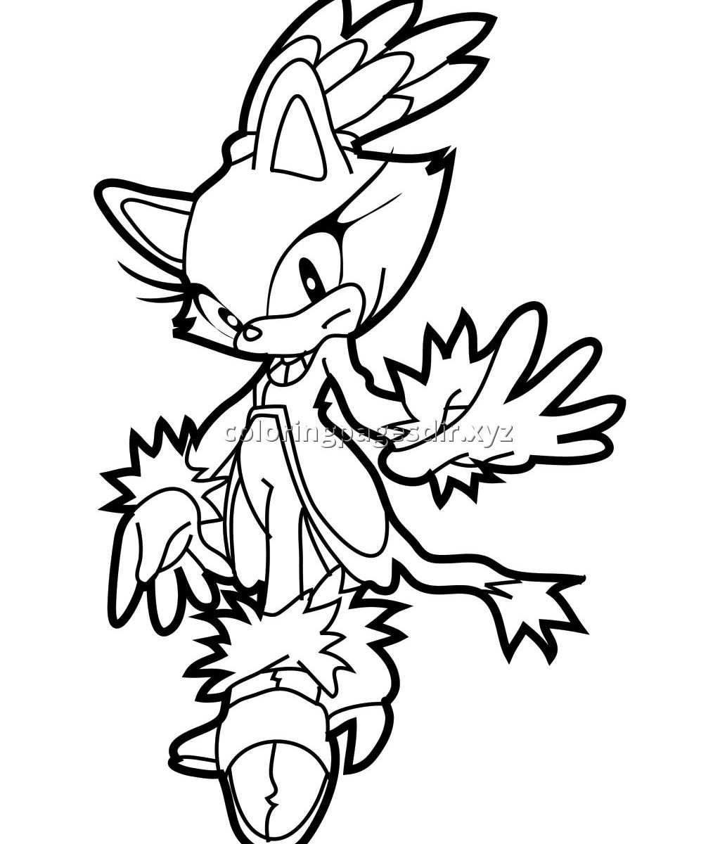 1024x1200 Coloring Page Blaze The Cat To Print Pages Cartoon Cartoons