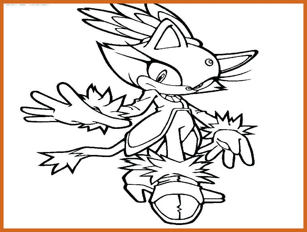 1048x792 Appealing Sonic Shadow Coloring Blaze The Cat Page Best Site Tails
