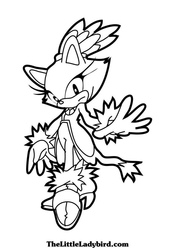 724x1024 Sonic Blaze Coloring Pages