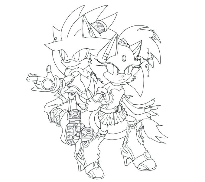 678x600 Sonic Blaze Coloring Pages Devon Creamteas