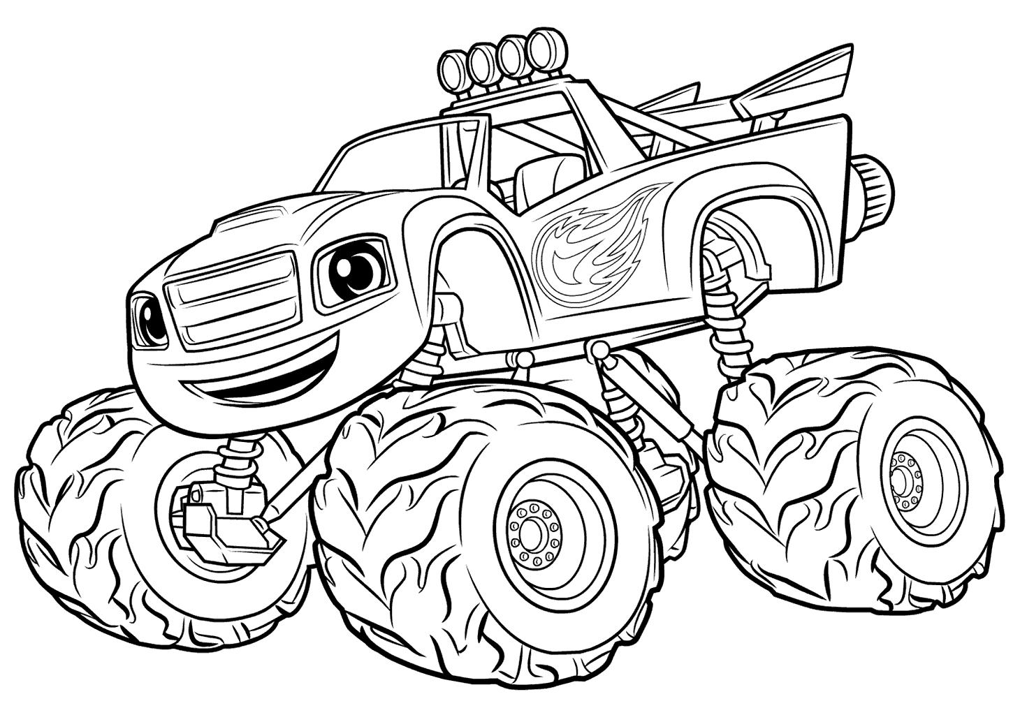 1460x1024 Blaze Monster Truck Coloring