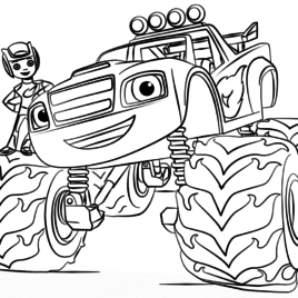 268x268 Blaze Monster Truck Coloring Page Archives