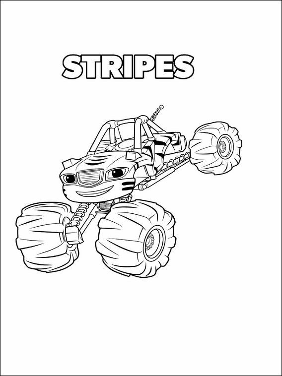 568x758 Blaze And The Monster Machines Coloring Pages