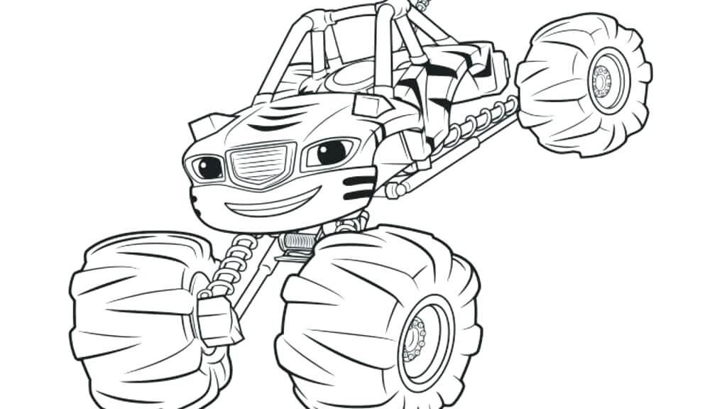 1024x576 Blaze And The Monster Machine Coloring Pages As Well As Blaze