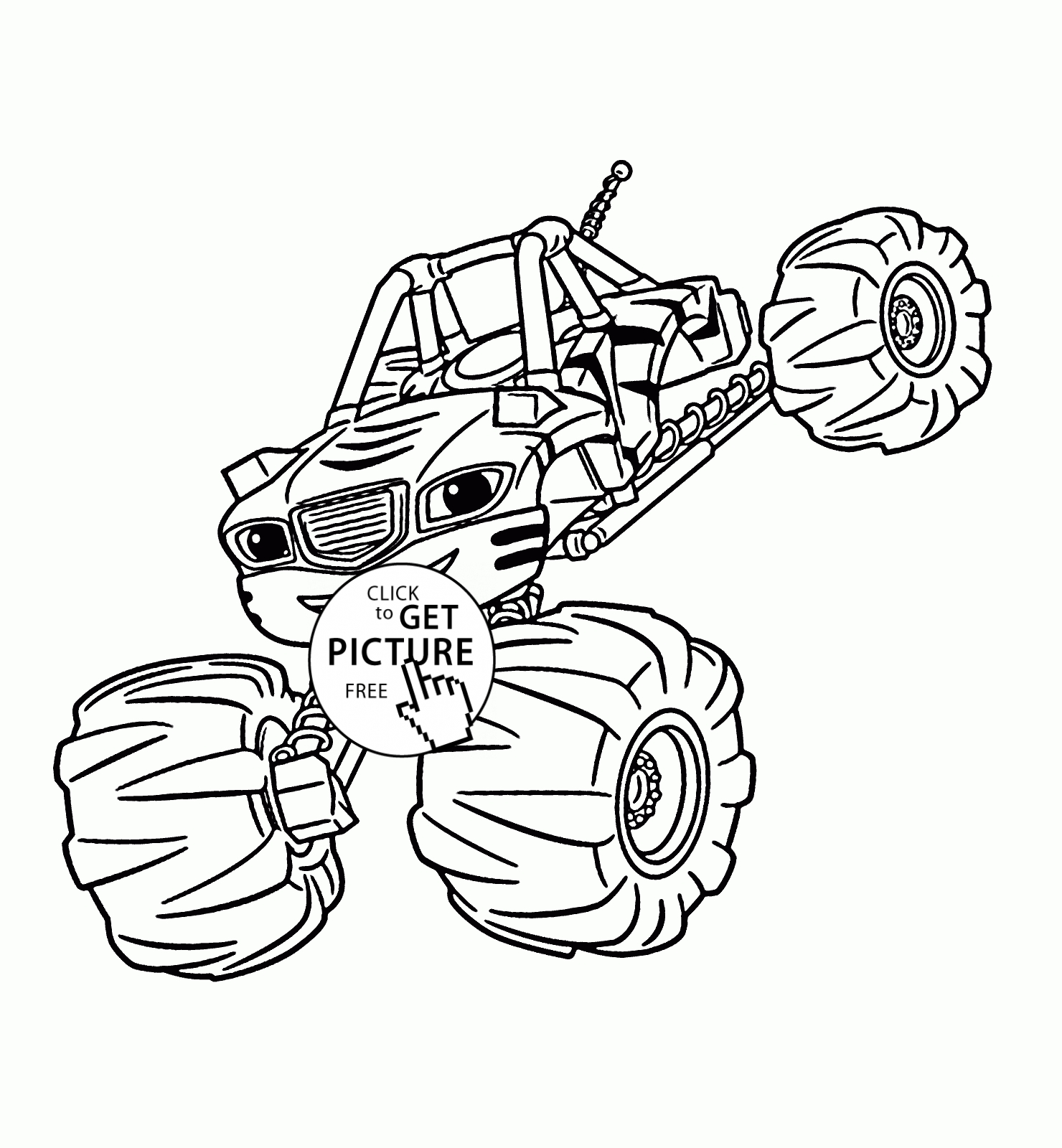 1480x1600 Greatest Blaze Coloring Pages Free And The Monster Machines Book