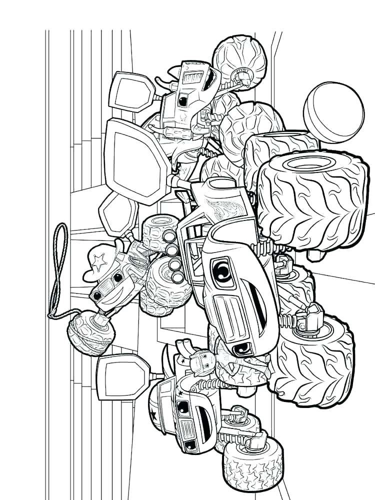 750x1000 Machine Coloring Pages Beautiful Blaze And The Monster Machines