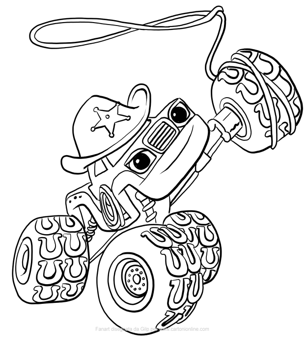 627x709 Starla Of Blaze And The Monster Machines Coloring Pages
