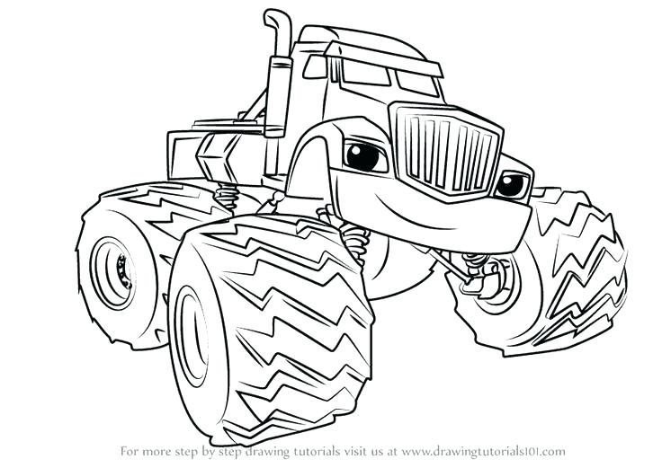 Blaze The Monster Machine Coloring Pages At Getdrawings Com Free