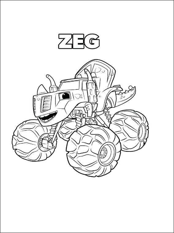 568x758 Blaze And The Monster Machine Coloring Pages Blaze And The Monster