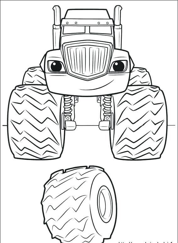 567x776 Blaze And The Monster Machines Coloring Pages