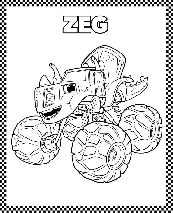 558x685 Blaze And The Monster Machines Coloring Pages
