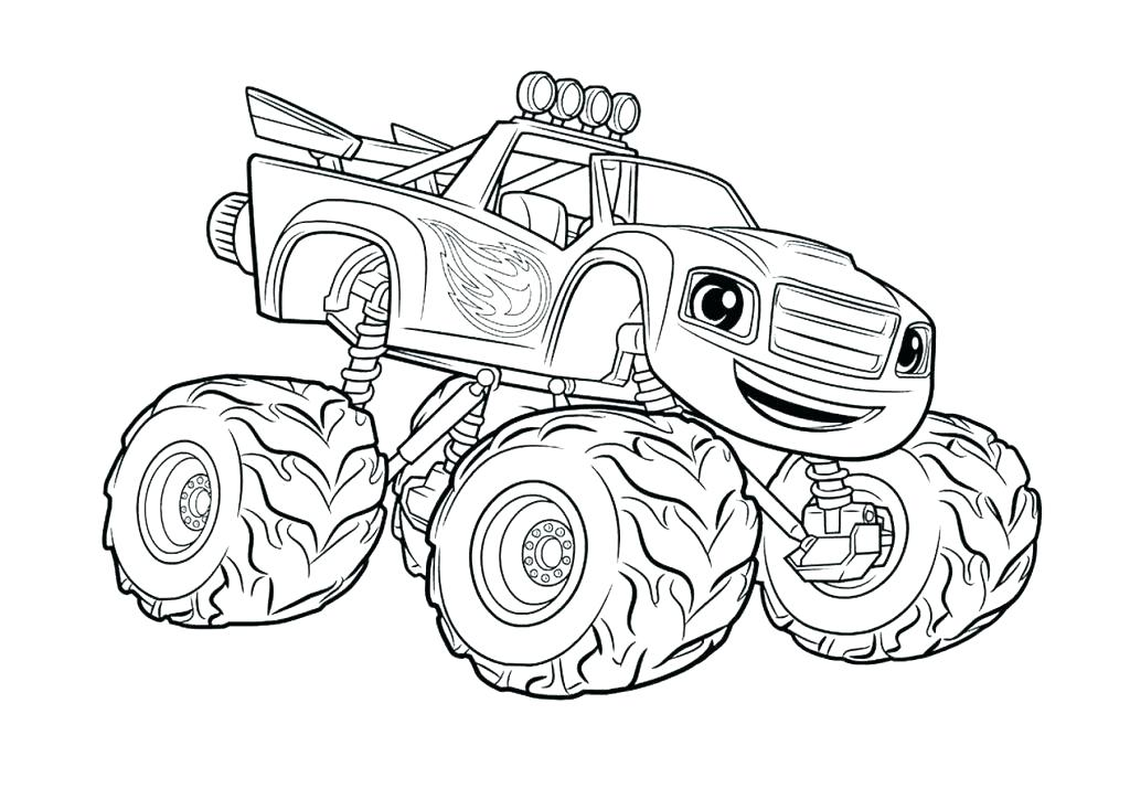 1024x724 Blaze Monster Machine Coloring Pages