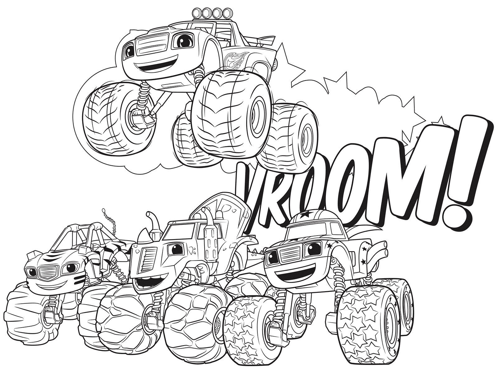 1600x1200 Blaze And The Monster Machines Coloring Pages