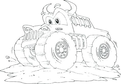 476x333 Blaze And The Monster Machines Coloring Pages Plus Monster Truck
