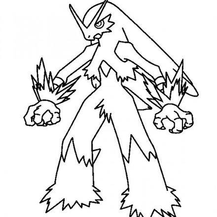 440x440 First Class Pokemon Coloring Pages Blaziken Page Mega