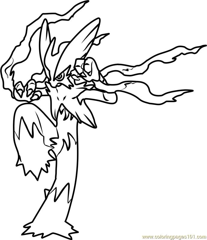 690x800 Mega Blaziken Pokemon Coloring Page