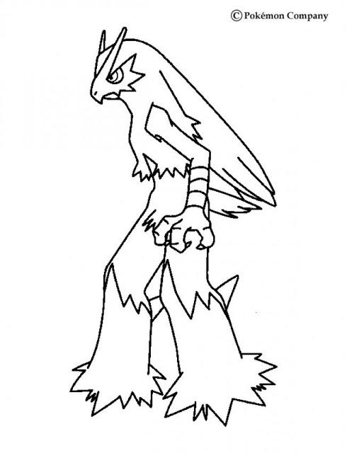 490x640 Transmissionpress Blaziken Pokemon Cartoon Coloring Pages