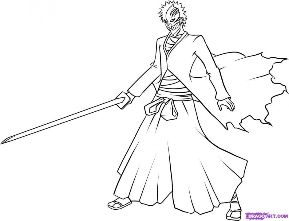 940x720 Bleach Coloring Pages