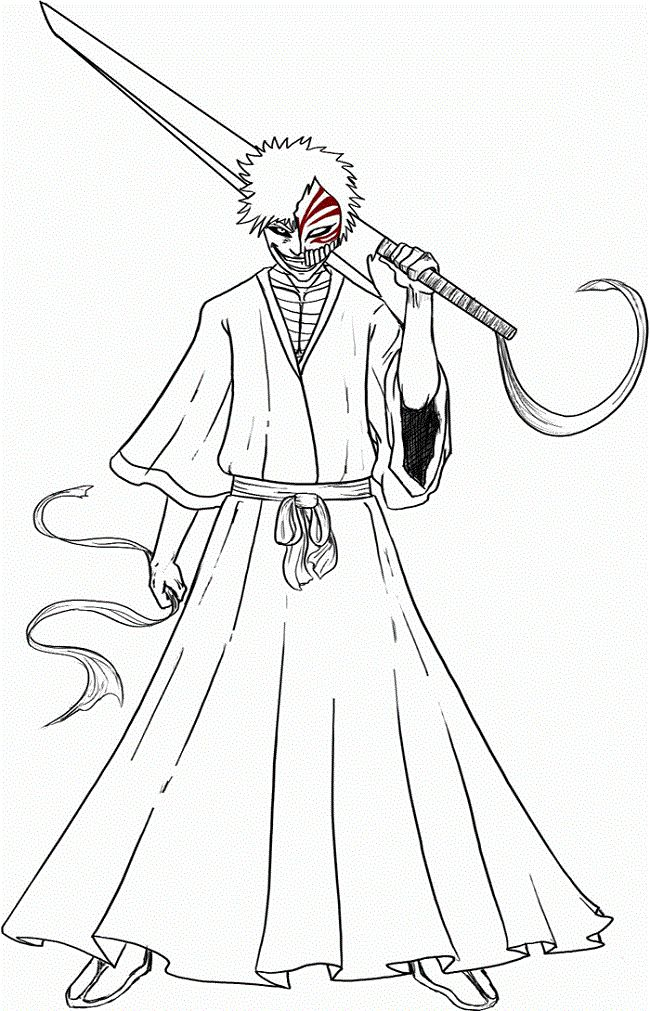650x1011 Best Bleach Coloring Pages Images On Bleach