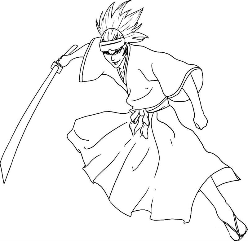800x778 Bleach Coloring Pages Team Colors