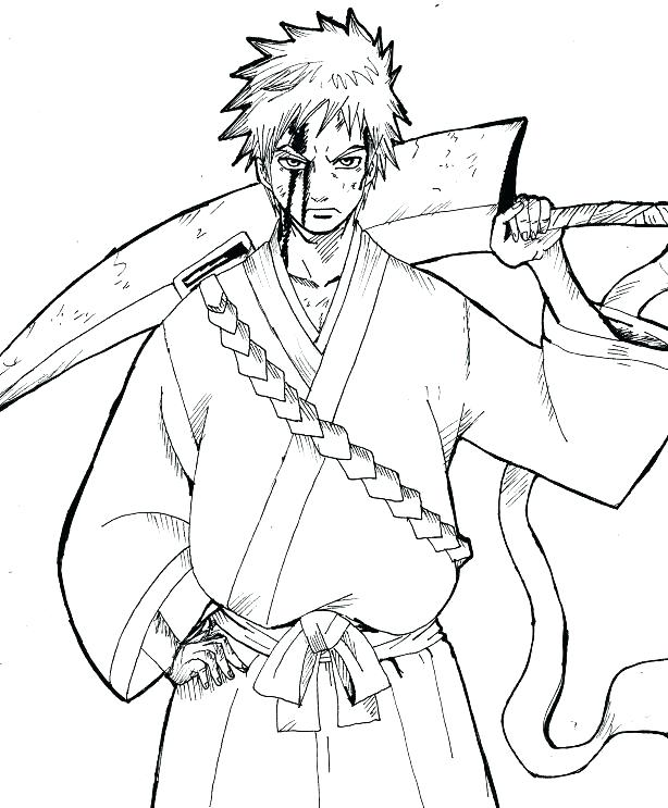 614x743 Bleach Coloring Pages Bleach Coloring Page Coloring Pages