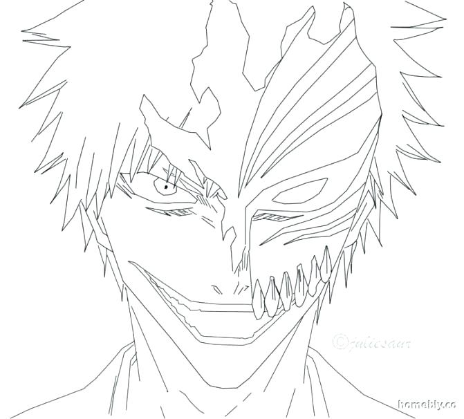 671x606 Bleach Coloring Pages Bleach Coloring Page Pages Bleach Hollow