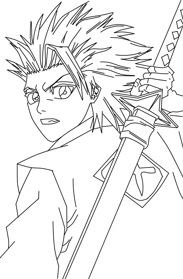 600x914 Bleach Coloring Pages Bleach Coloring Pages