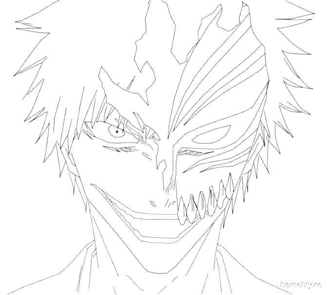 671x606 Ichigo Coloring Pages Bleach Coloring Pages Browsing Folding