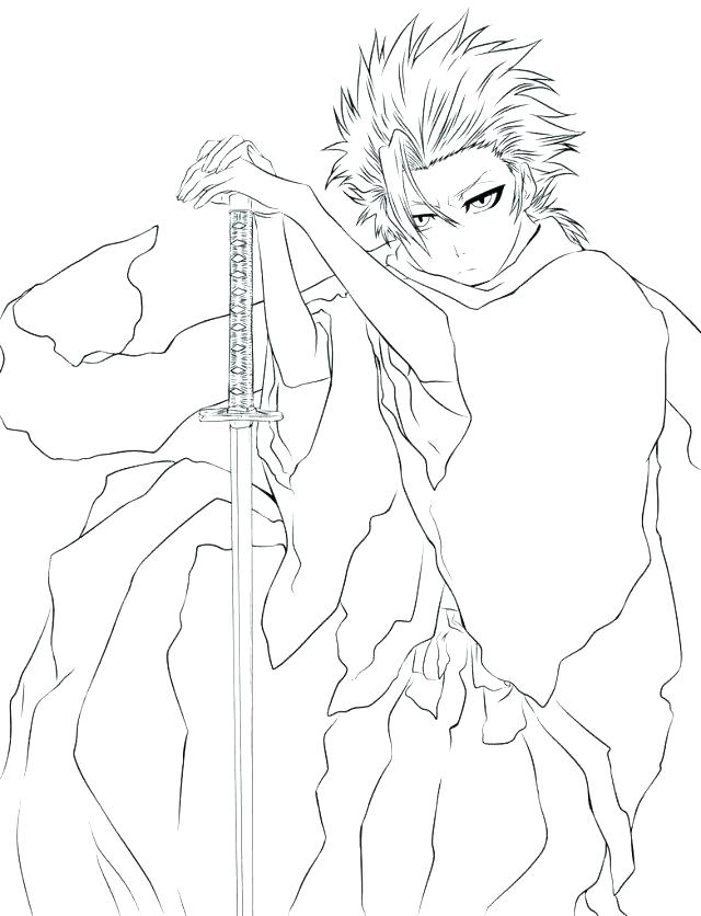 640x836 Ichigo Coloring Pages Extraordinary Bleach Coloring Pages Coloring