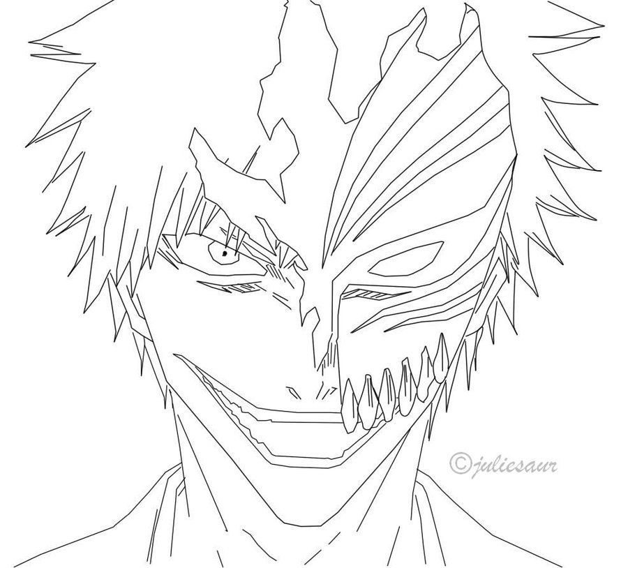 900x814 Bleach Color Page Unique Bleach Coloring Pages In Seasonal