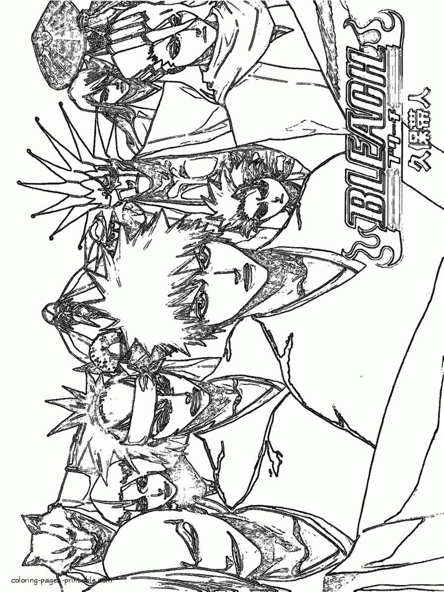 895x1193 Bleach Anime Coloring Pages Sheets New