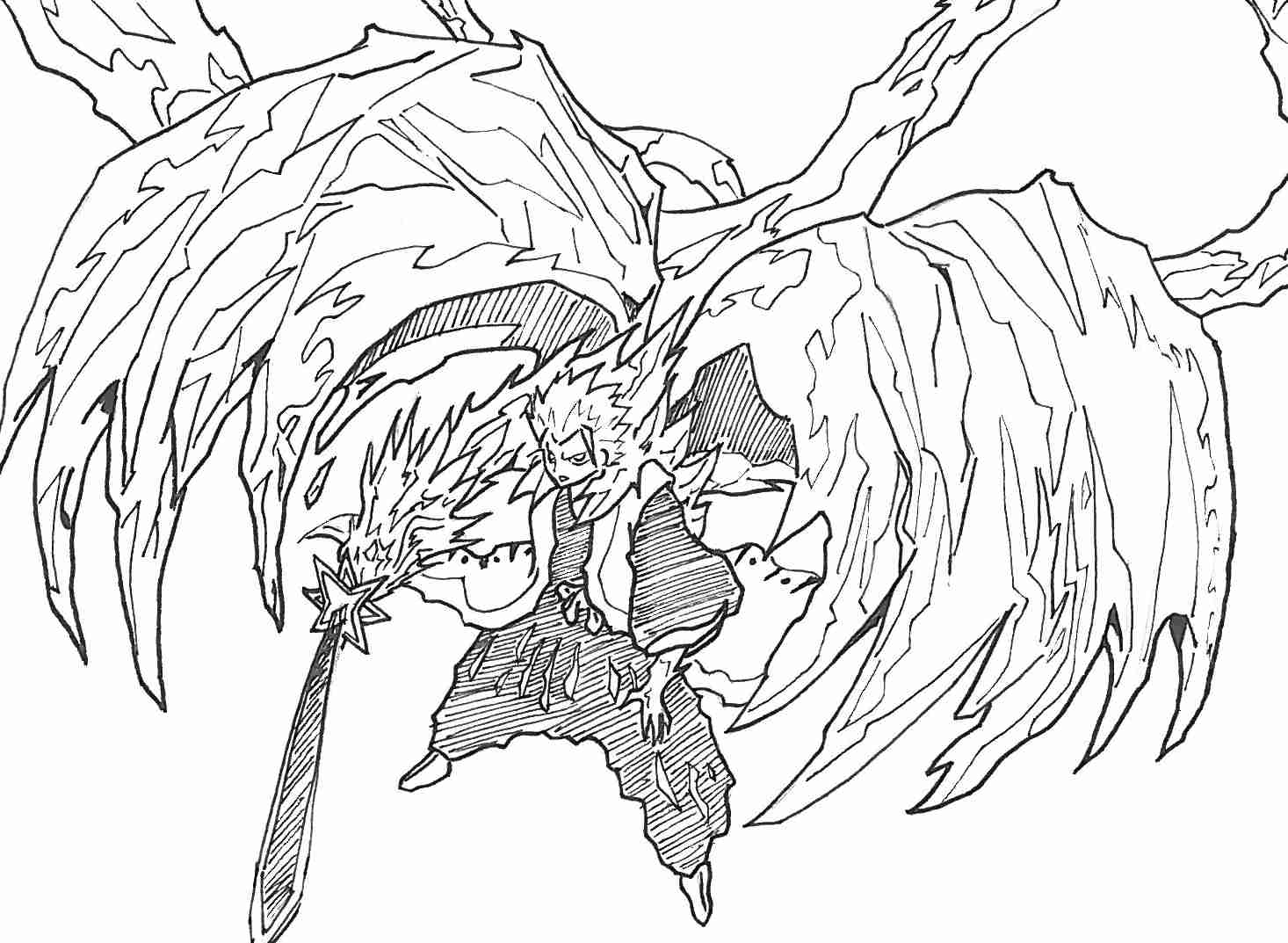 1466x1073 Coloring Pages Bleach Throughout Olegratiy