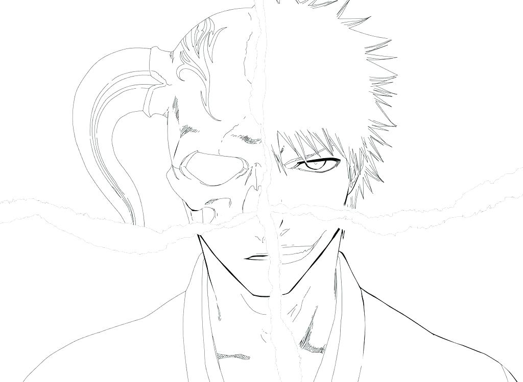 1024x749 Ichigo Coloring Pages Bleach Color Pages Bleach Coloring Pages