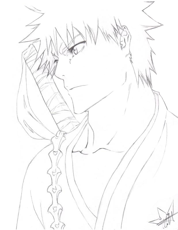 Bleach Ichigo Coloring Pages At Getdrawings Com Free For Personal