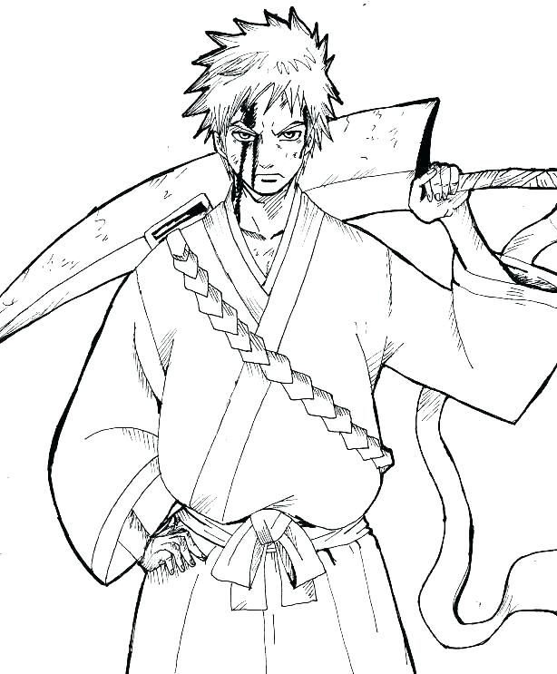 614x743 Ichigo Coloring Pages Bleach Color Pages Bleach Zodiac Signs
