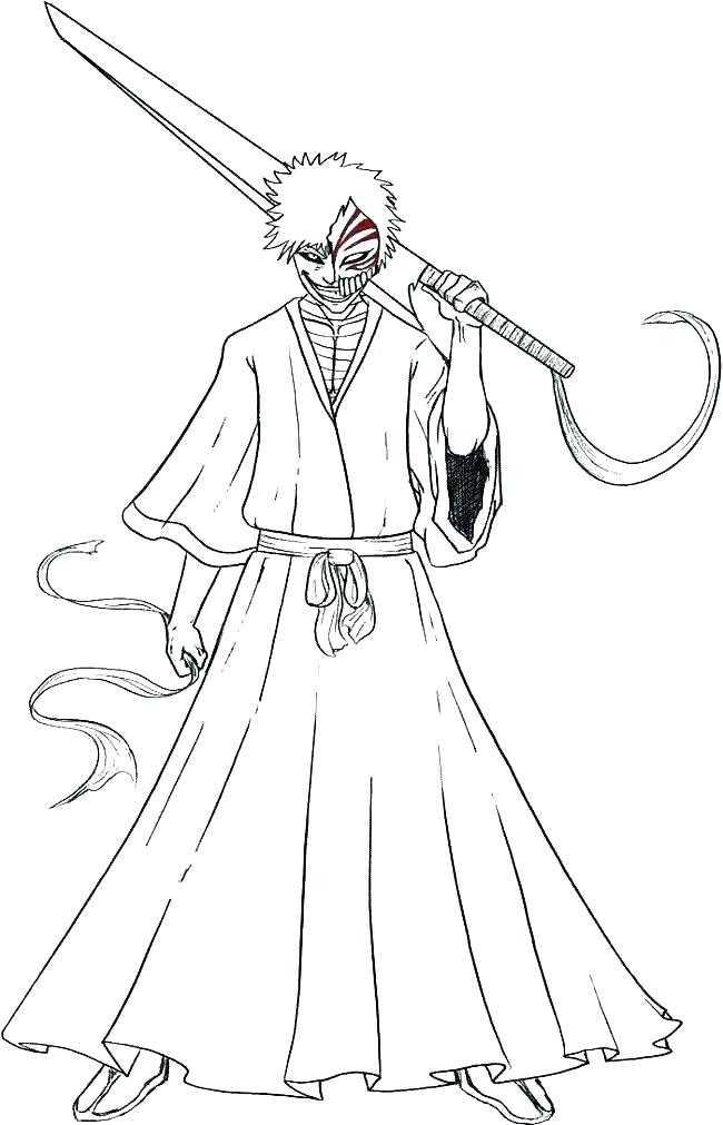 650x1011 Ichigo Coloring Pages Bleach Coloring Pages Bleach Coloring Bleach