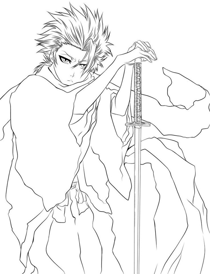 736x961 Bleach Coloring Pages Best Bleach Coloring Pages Images