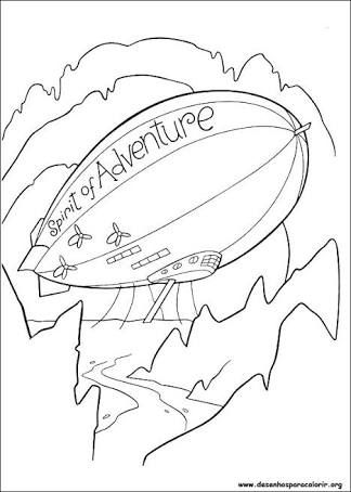 Blimp Coloring Pages